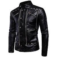 Куртка кожаная для байка,косуха мужская с натуральной кожи.