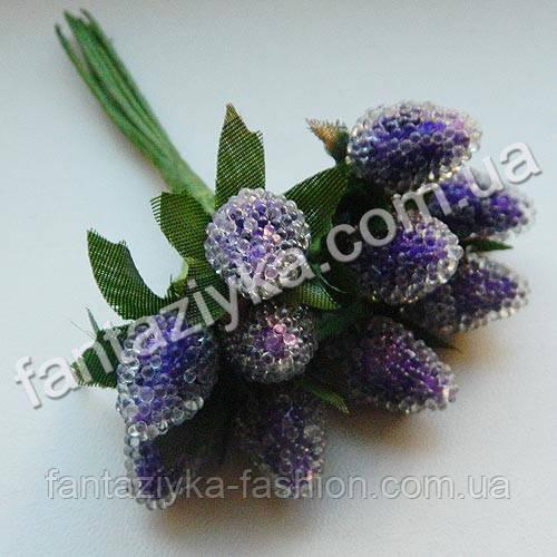 Искусственная малина фиолетовая, в пучке 10 штук
