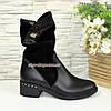 Женские зимние ботинки на невысоком каблуке классического пошива, фото 2
