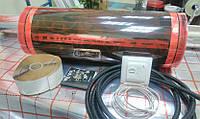 6м2. Готовый комплект саморегулирующего инфракрасного теплого пола Rexva PTC с механическим терморегулятором.