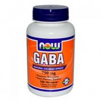 GABA/ГАБА/ГАМК  100 капс 750 мг жиросжигатель  для роста мышц   Now Foods USA