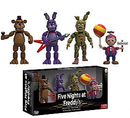 Набор фигурок 5 ночей с Фредди Five Nights at Freddy's (4 шт. в коробке) + Плюшевая игрушка в Подарок! TOY017