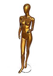 Гипсовый женский манекен золото