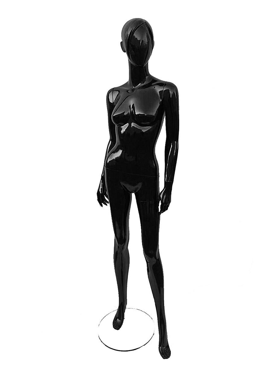 Манекен женский лаковый с челкой
