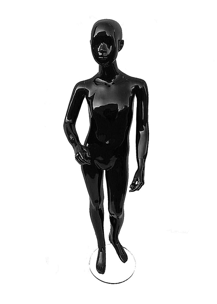 Манекен женский лаковый черный (Подросток)