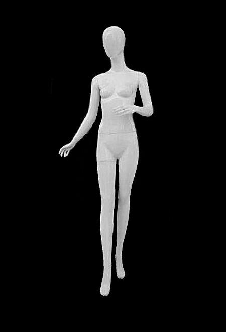 Манекен женский лаковый белый