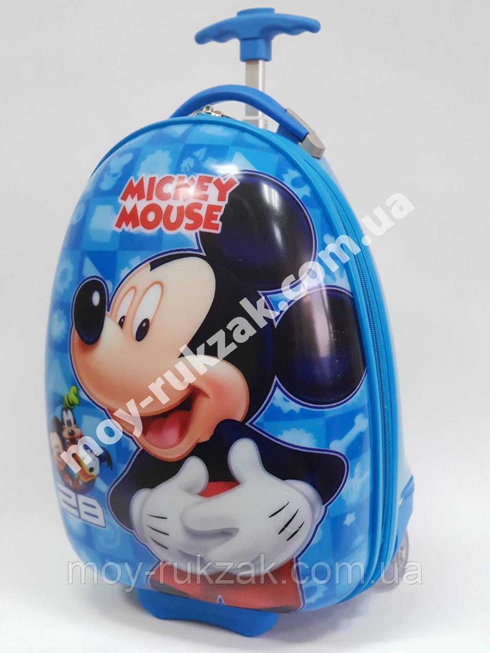 Детский чемодан дорожный на колесах «Микки Маус -2», 520398