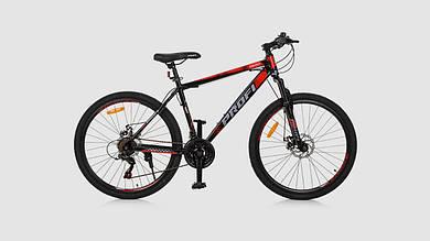 Велосипед PROFI G26ENERGY A26.1. 21 скорость 26 дюймовые колеса. Красно-черный.