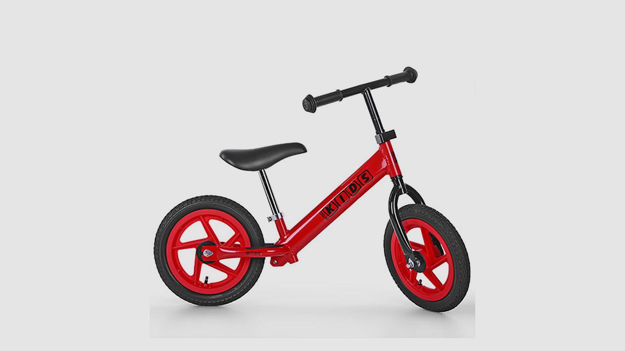 Беговел PROFI KIDS. Гумові 12 дюймові колеса. Червоного кольору