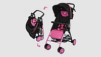 Коляска детская EL CAMINO PILOT прогулочная коляска-книжка. Розово-черного цвета