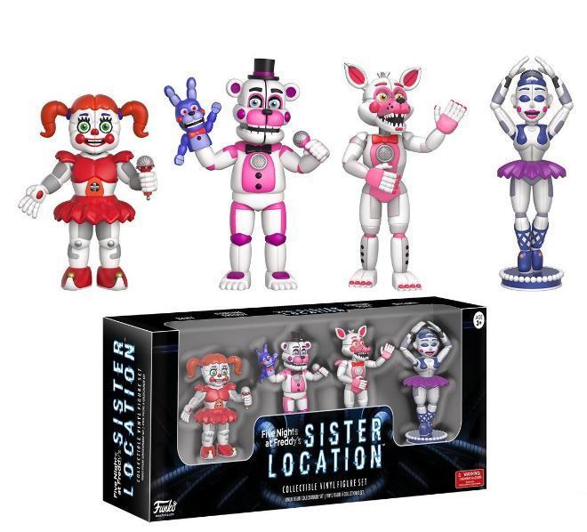 Набор фигурок 5 ночей с Фредди Five Nights at Freddy's Sister Location (4 шт. в коробке) + Подарок! TOY018