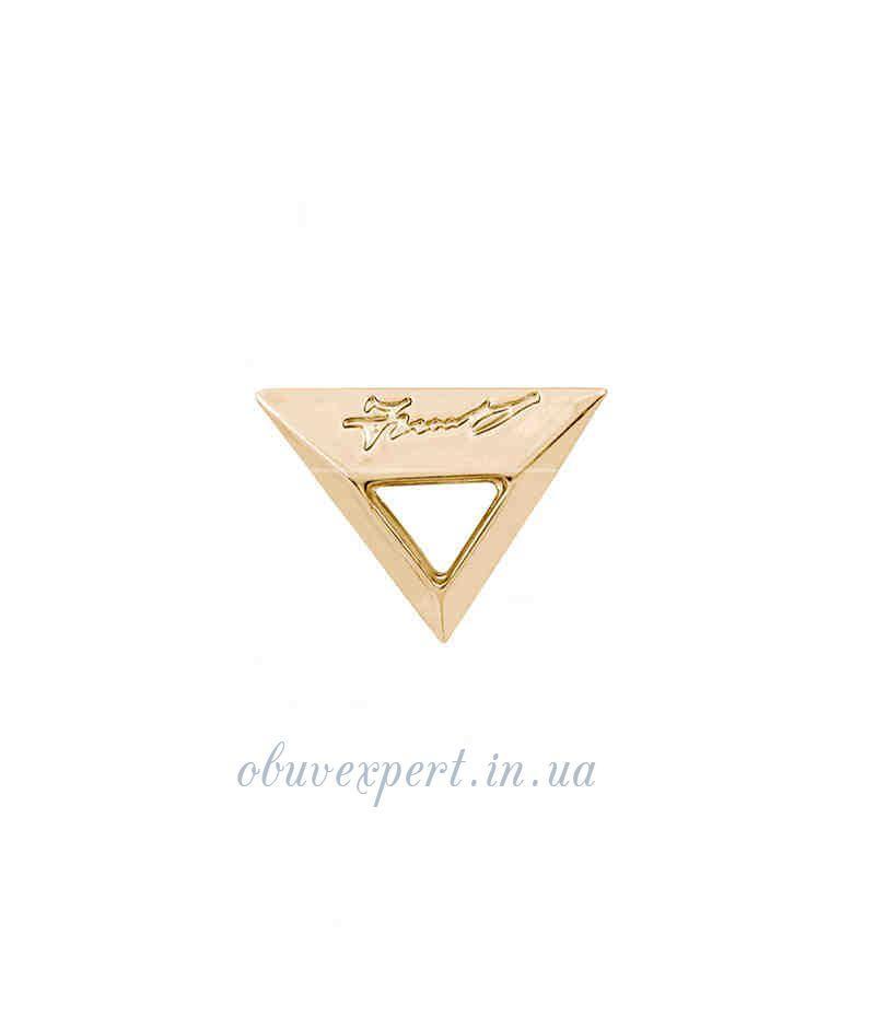 Декор средний  Треугольник 18*24 мм Красное золото