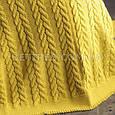 Покривало в'язане 220x240 BETIRES BREMEN MUSTARD жовте, фото 8