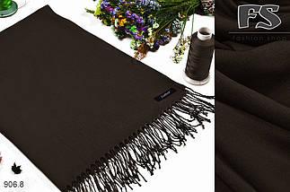 Женский коричневый шарф из пашмины, фото 3