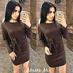 """Стильное замшевое платье """"Плотный замш"""" с поясом, фото 2"""