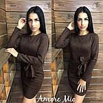 """Стильное замшевое платье """"Плотный замш"""" с поясом, фото 6"""
