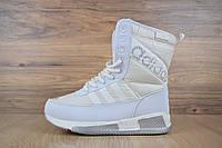 Сапоги зимние женские в стиле Adidas код товара OD-3258. Белые