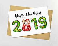 Новогодние открытки 2019
