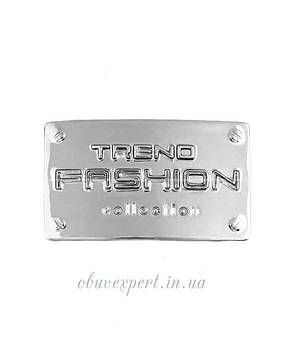 """Декоративная табличка """"FASHION"""" 25*41 мм Серебро, фото 2"""
