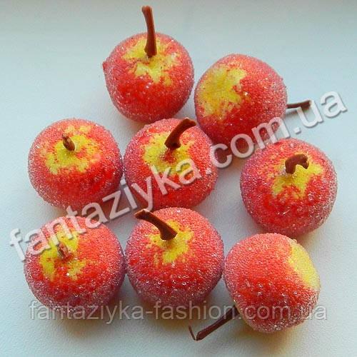 Яблоко в сахаре маленькое 25мм, красно-желтое