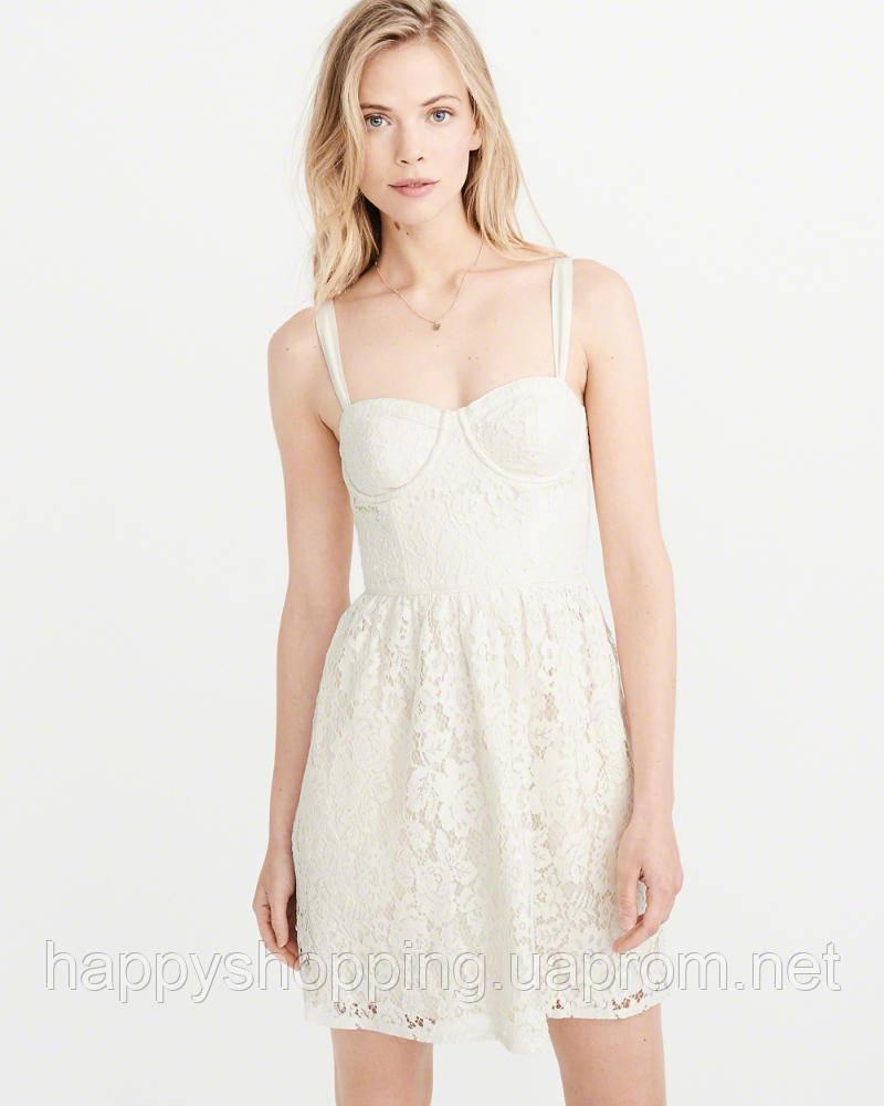 Женское ажурное мини платье Abercrombie & Fitch