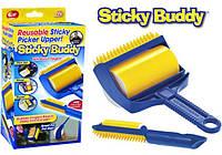 Щетка для чистки одежды ковров Sticky Buddy Стики Бади, Валик для уборки Sticky Buddy
