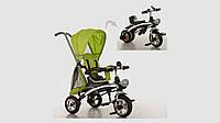 Велосипед трехколесный TURBOTRIKE 2в1 (беговел). Зеленого цвета