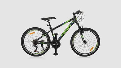 Велосипед PROFI G24PLAIN A24.3. 21 скоростей 24 дюймовые колеса. Черно-синий