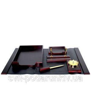 Настольный набор из красного дерева - фото