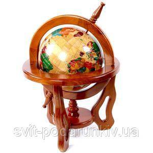 Подарочный глобус из дерева - фото