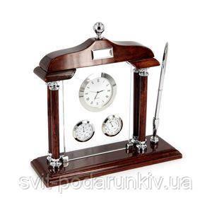 Настольный набор с часами - фото