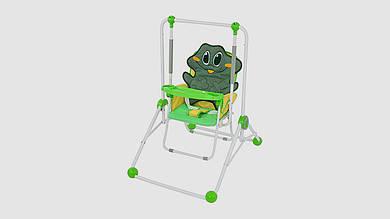 Качели BAMBI 2в1 (качели и стульчик). С ремнем безопасности. Зеленого цвета