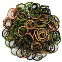 Резиночки для плетения браслетов rainbow loom bands - одноцветные микс хаки