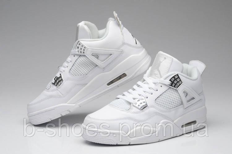 Мужские кроссовки Air Jordan Retro 4 (FullWhite)