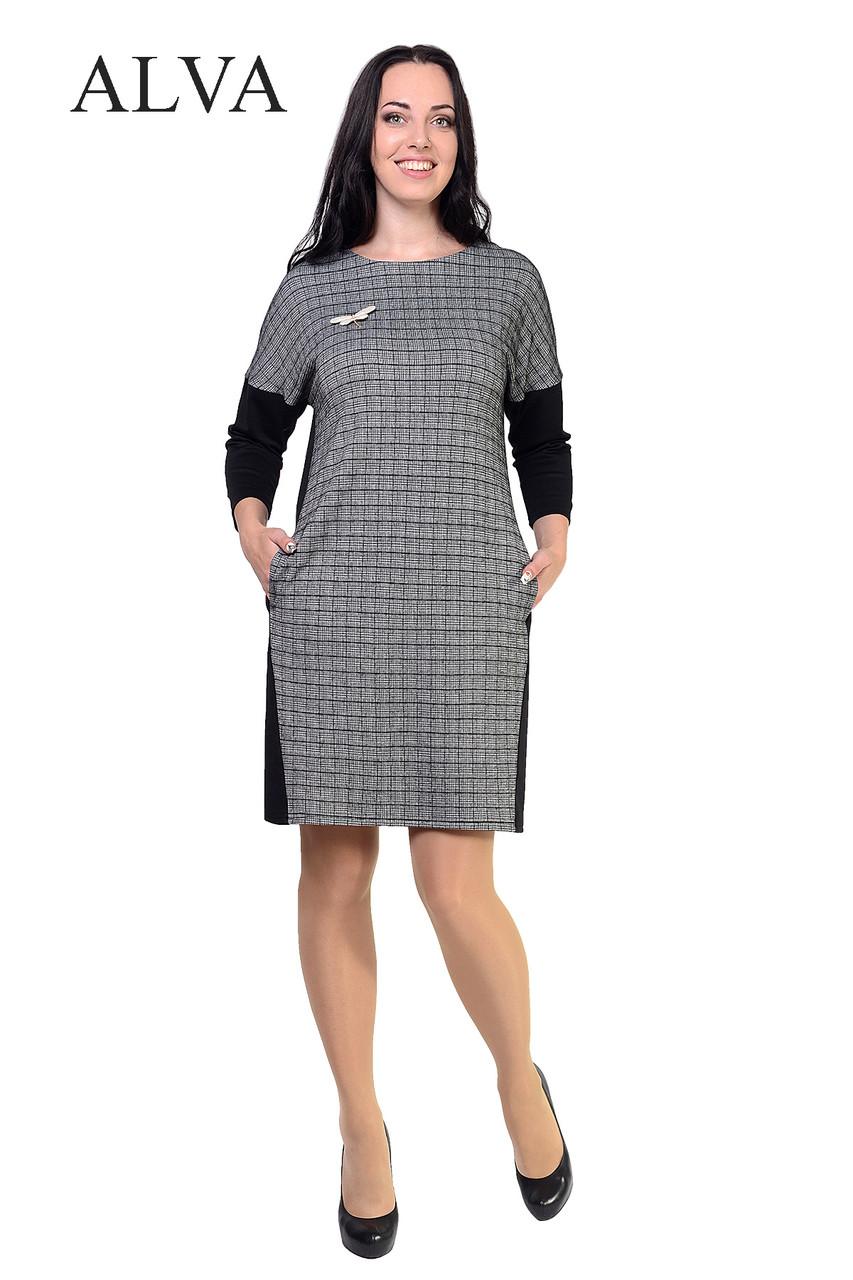 Платье со спинкой черного цвета   48-54