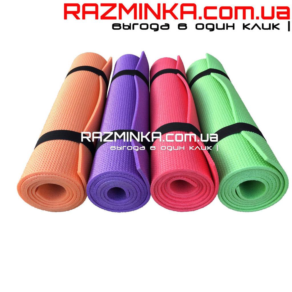 Компактный каремат для фитнеса 150х50см, толщина 5мм