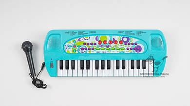 Детский синтезатор HS3290AB. 32 клавиши. Функция записи и микрофон. 2 цвета