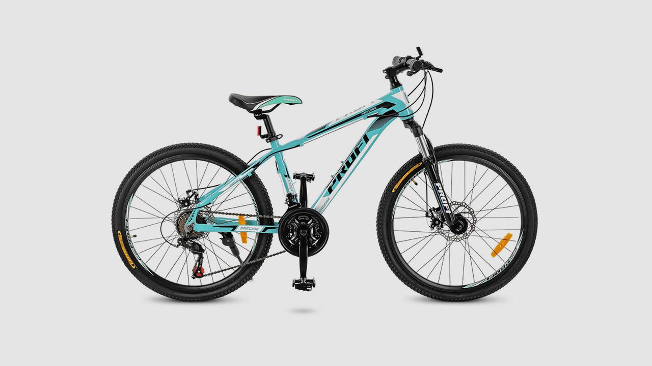 Велосипед PROFI G24PRECISE A24.1. 21 скорость 24 дюймовые колеса. Мятного цвета.