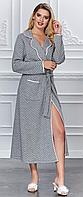Женский халат, трикотаж  MARILYN CLUB серый, Турция