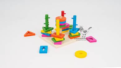 Деревянная пирамидка-ключ MD 0061. Из 25 деталей