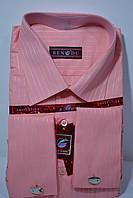 Мужская коралловая рубашка под запонку BENDU (размер 38.39.40.41.42.43.44)