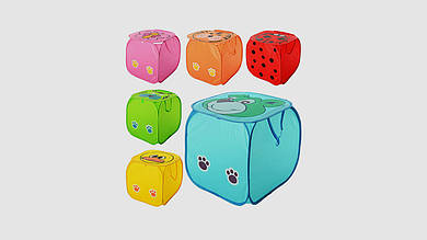 Корзина для игрушек с крышкой на липучке. 6 видов.