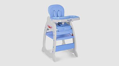 Стульчик для кормления BAMBI трансформер 2в1(столик со стульчиком). Голубой.