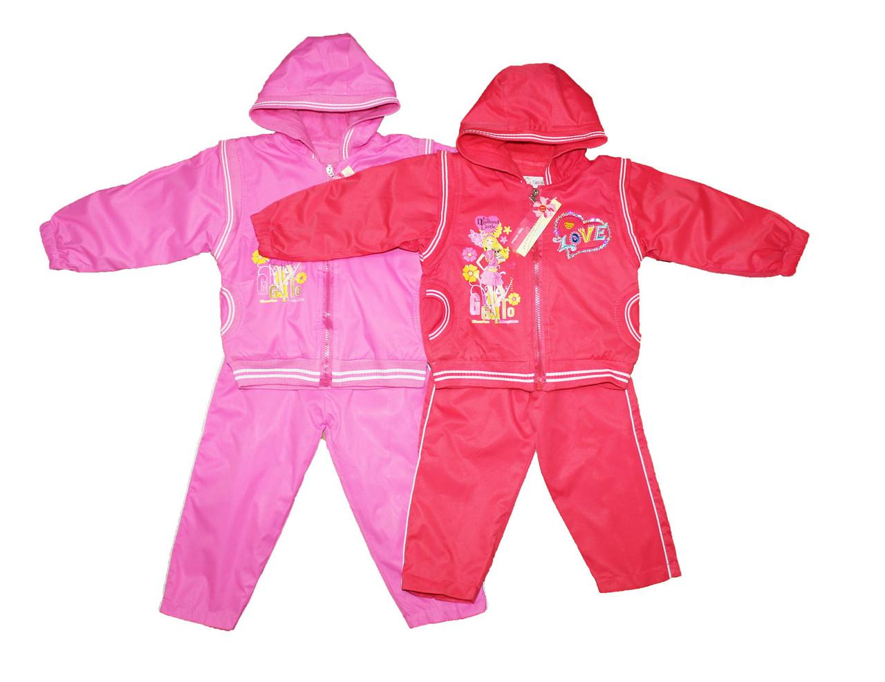 Костюм детский весенний для девочки. Курточка + брюки. Пчелка Х-47