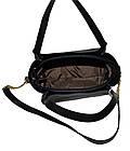 Женская черная с серебряными вставками сумка Michael Kors (23*26*12) , фото 5