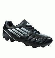Купить Кроссовки для футбола (бутсы) натуральная кожа черные 39 р ... f957156d458