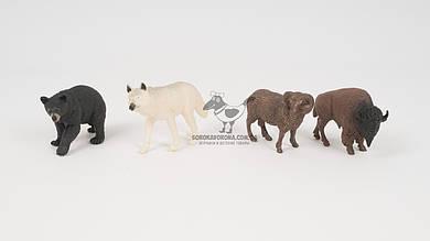 Набор диких животных (4 штуки). 2 вида