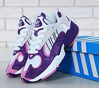 Кроссовки женские фиолетовые стильные модные от Adidas Yung-1 Адидас Янг-1