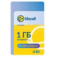 Карточка пополнения счета lifecell 1Gb Інтернет S (4820158950875)