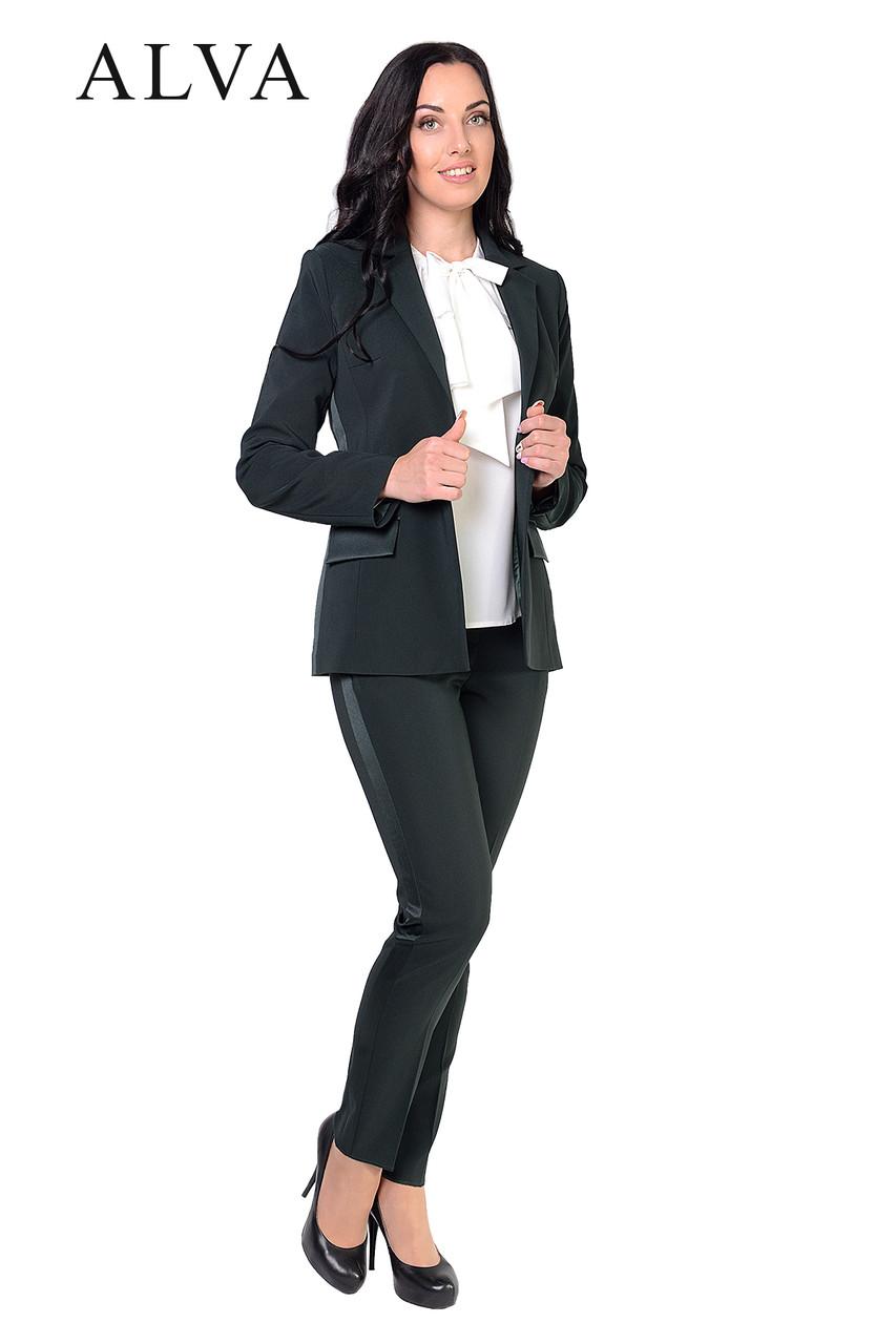 Красивый стильный брючный женский костюм 46-52